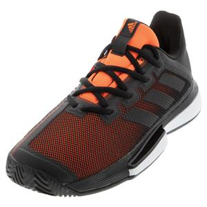 Men`s SoleMatch Bounce Tennis Shoes Core Black and Solar Orange