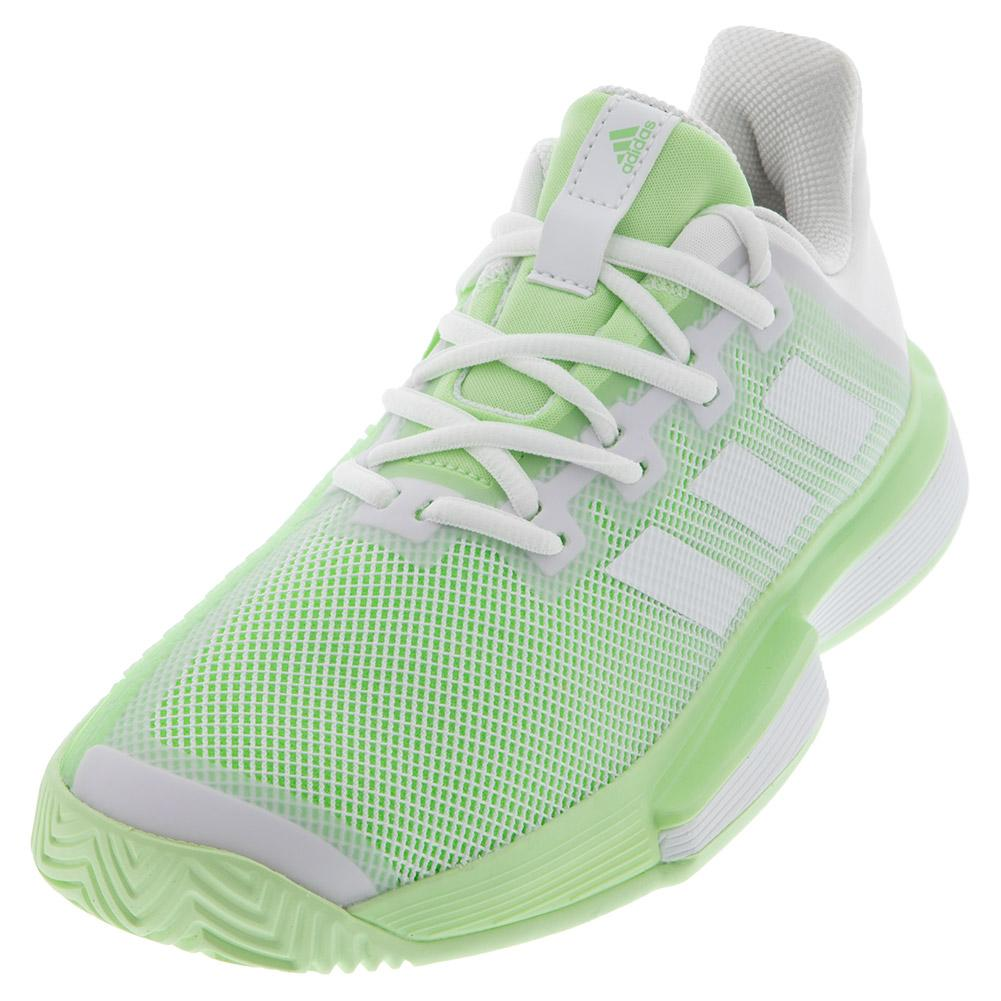 Women's Solematch Bounce Tennis Shoes White And Glow Green