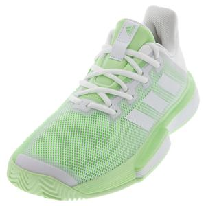 Women`s SoleMatch Bounce Tennis Shoes White and Glow Green