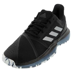 Men`s CourtJam Bounce Tennis Shoes Core Black and Silver Metallic