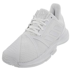 Women`s CourtJam Bounce Tennis Shoes White and Matte Silver