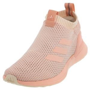 Juniors` RapidaRun LL Knit Shoes Ecru Tint and Glow Pink