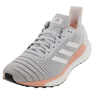 Women`s Solar Glide 19 Running Shoes Blue Tint and White