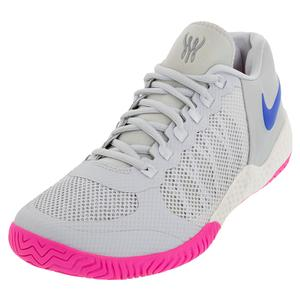Women`s Flare 2 HC Tennis Shoes Pure Platinum and Racer Blue