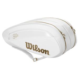 Federer DNA 12 Pack Wimbledon Tennis Bag White and Gold