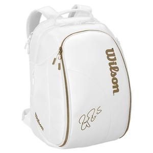 Federer DNA Wimbledon Tennis Backpack White and Gold