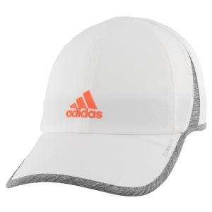 Women`s Superlite Tennis Cap White and Hi Res Coral