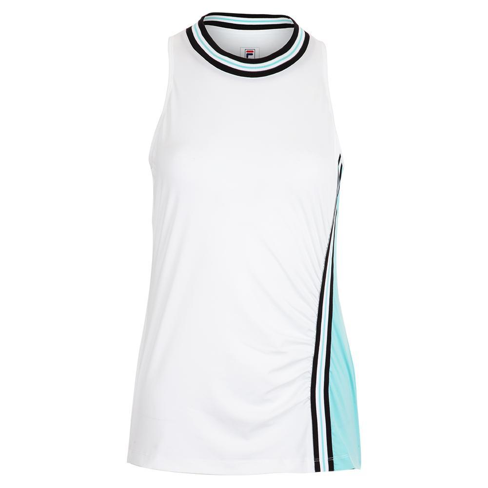 41f5602bff81 Fila Women's Love Game Full Coverage Tennis Tank White and Angel Blue