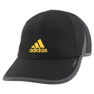 Men`s Superlite Tennis Cap Black and Active Gold