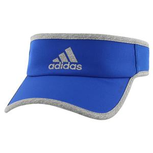 Men`s Superlite Tennis Visor Collegiate Royal and Heather Grey