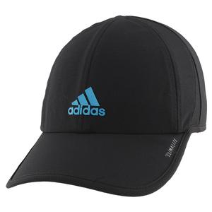 Women`s Superlite Tennis Cap Black and Active Teal