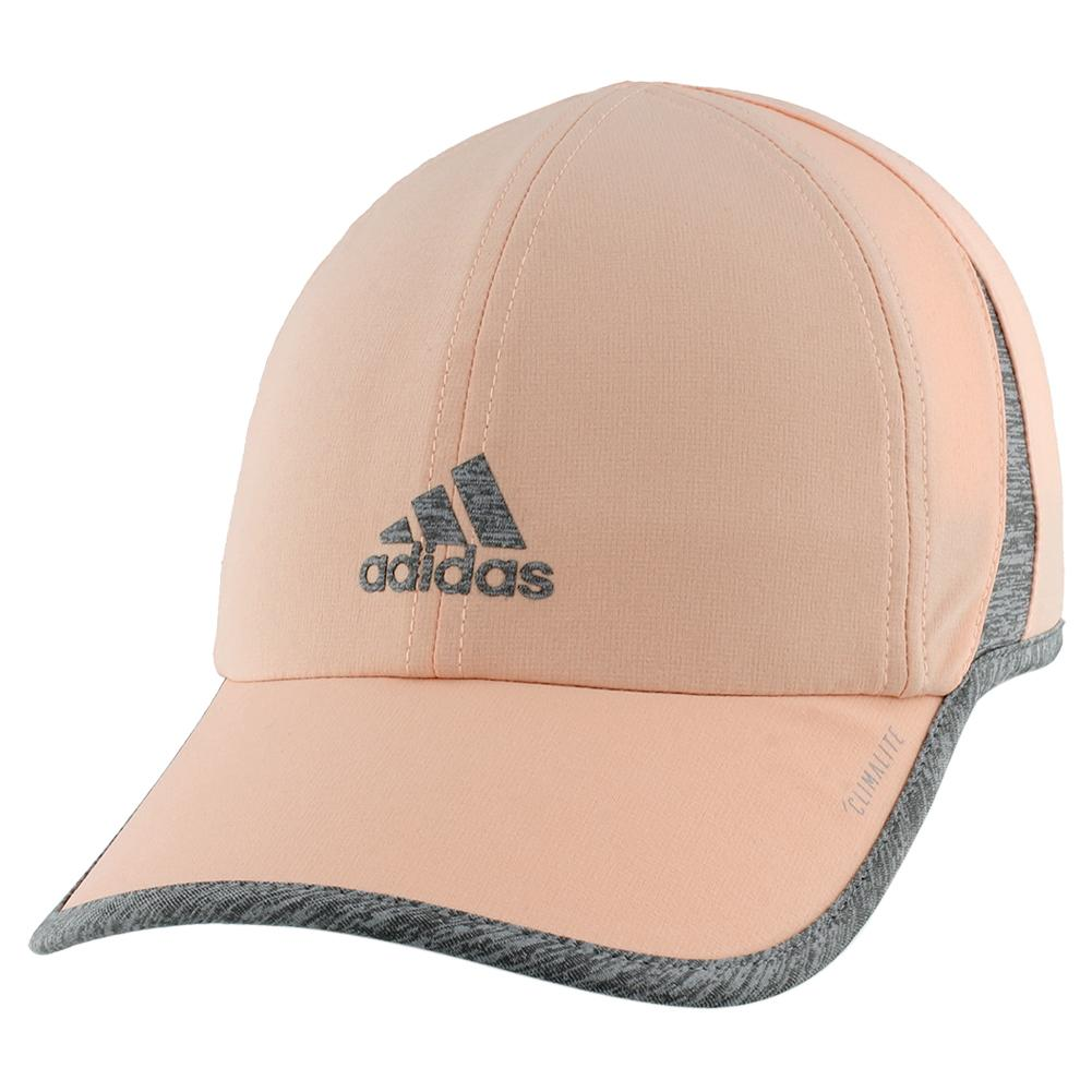 a1263382365d4b Adidas Women's Superlite Tennis Cap Glow Pink and Heather Grey