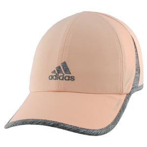 Women`s Superlite Tennis Cap Glow Pink and Heather Grey