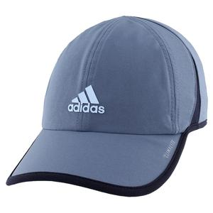 Women`s Superlite Tennis Cap Tech Ink Grey and Glow Blue