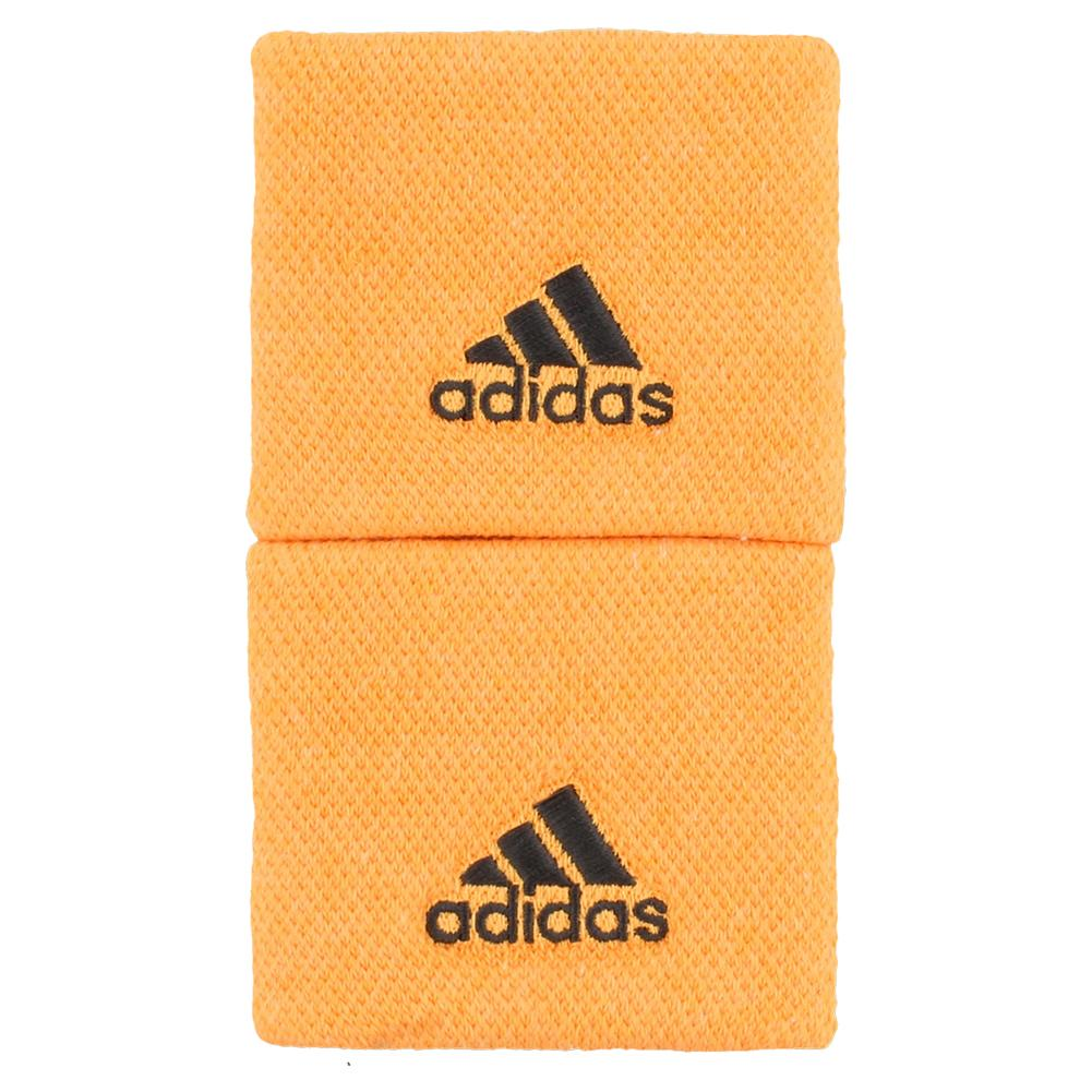 Small Tennis Wristbands Flash Orange And Carbon
