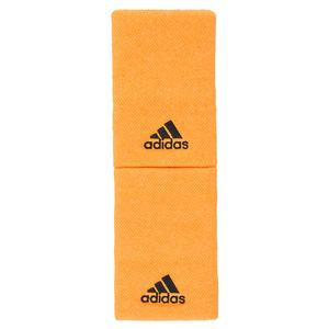 Large Tennis Wristbands Flash Orange and Carbon