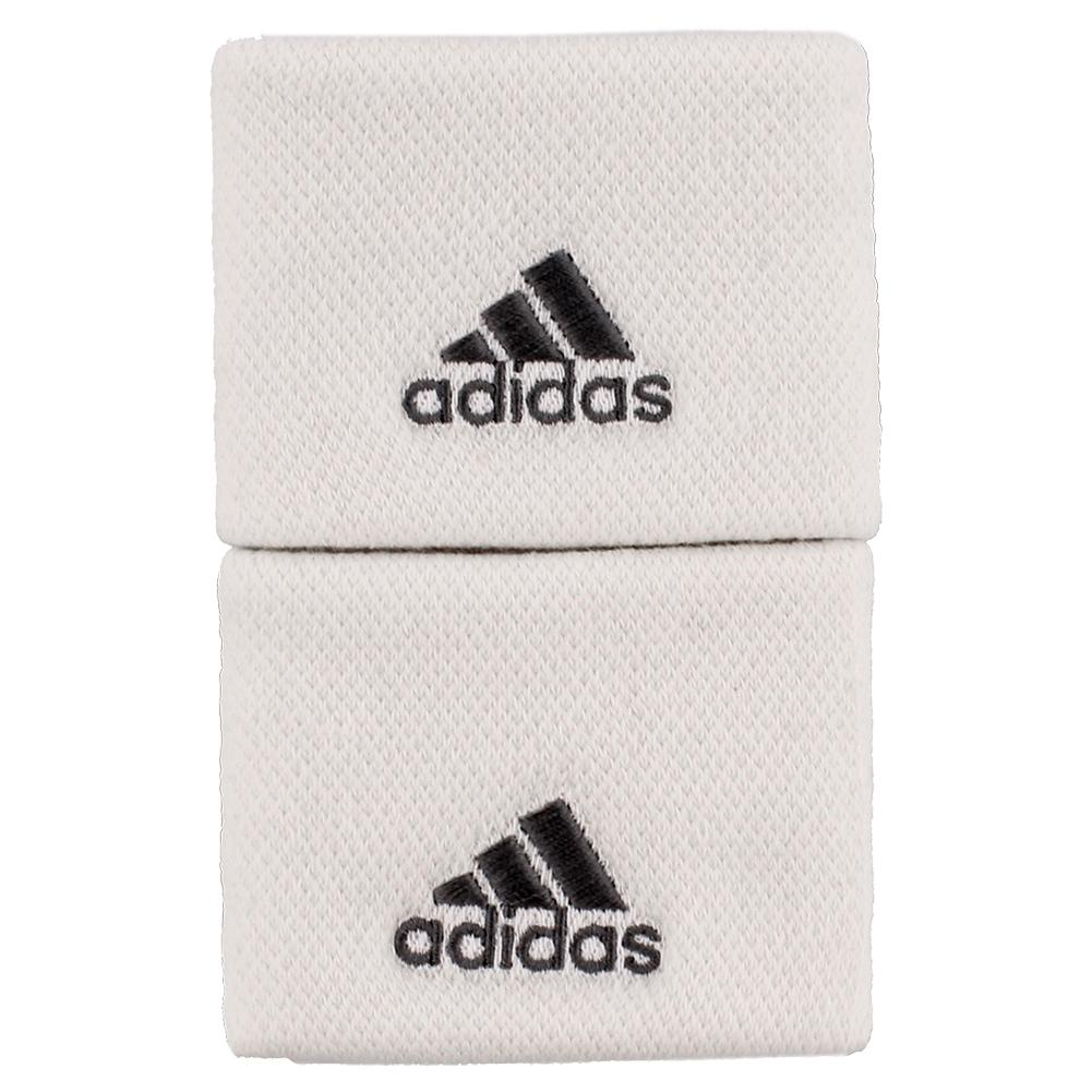 Small Tennis Wristbands White And Grey Four