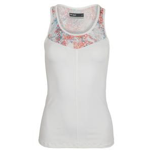 Women`s Force Tennis Tank White and Abstract Print
