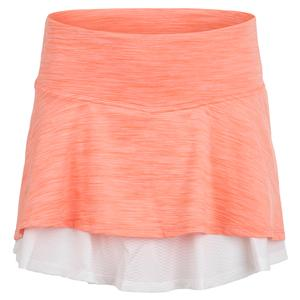 Women`s Laser Tennis Skort Desert Flower and White