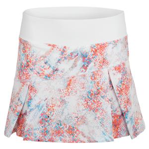 Women`s Topspin 13 Inch Tennis Skort Abstract Print