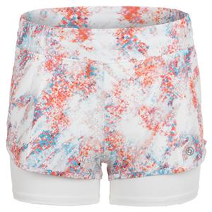 Women`s Metro 4 Inch Tennis Short Abstract Print