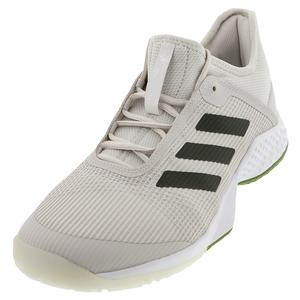 Juniors` Adizero Club 2 Tennis Shoes Gray One and Tech Olive