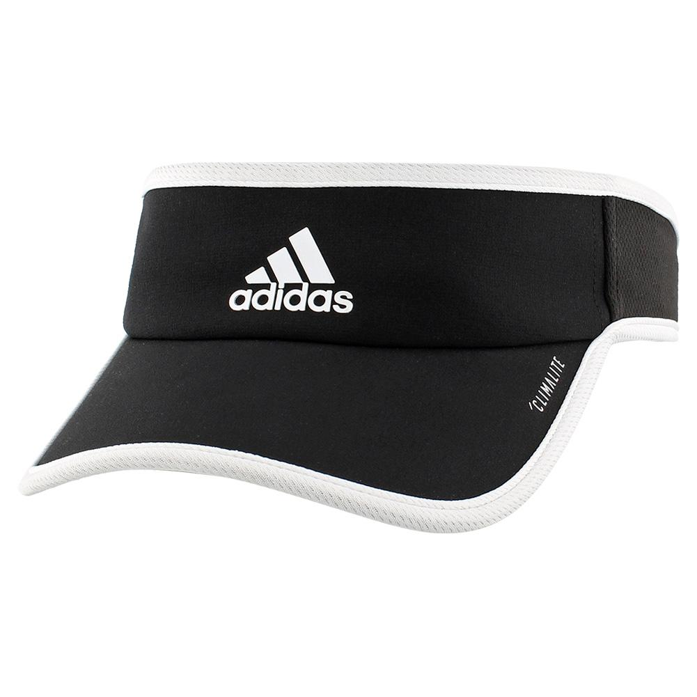 Women's Superlite Tennis Visor Black And White