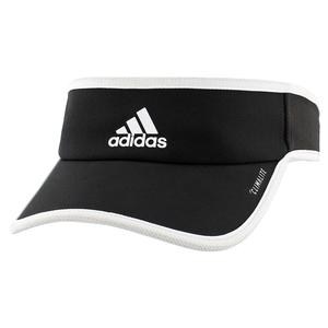 Women`s Superlite Tennis Visor Black and White