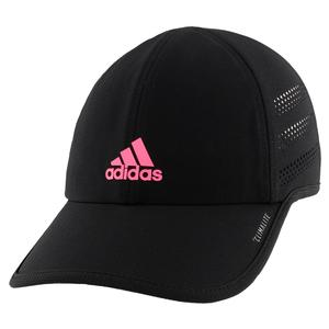 Women`s Superlite Pro Tennis Cap Black and Real Pink