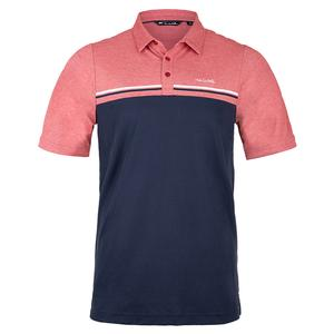 Men`s The Red Head Tennis Polo Heather Cardinal