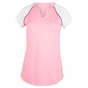 Women`s Raglan Tennis Top Confetti Pink