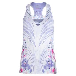 Women`s Tennis V-Tank Lilac It Print
