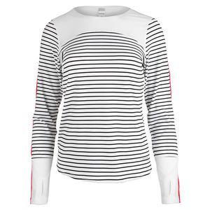 Women`s City Chic Long Sleeve Tennis Top White