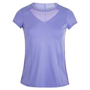 Women`s Short Sleeve Tennis Crew Lilac