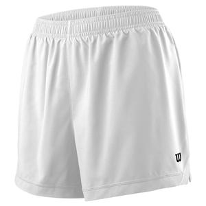 Women`s Team 3.5 Inch Tennis Short White