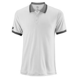 Men`s Team Tennis Polo White