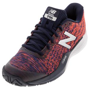 Women`s 996v3 D Width Tennis Shoes Pigment and Multi
