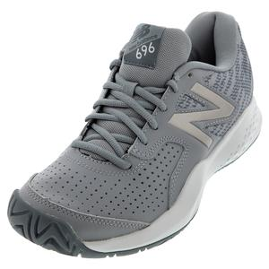 Women`s 696v3 B Width Tennis Shoes Steel and Champagne