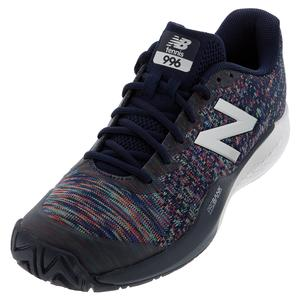 Men`s 996v3 2E Width Tennis Shoes Pigment and Multi