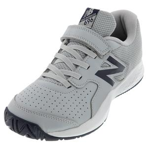 Juniors` 696v3 Tennis Shoes Aluminum and Pigment