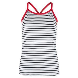 Women`s City Chic Racerback Tennis Tank White