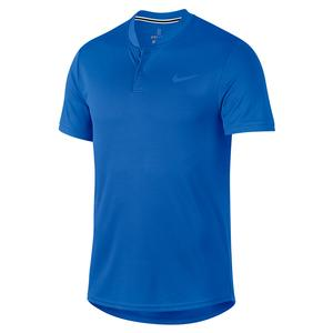 Men`s Court Dry Blade Tennis Polo Signal Blue
