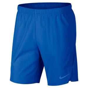 Men`s Court Flex Ace 9 Inch Tennis Short Signal Blue