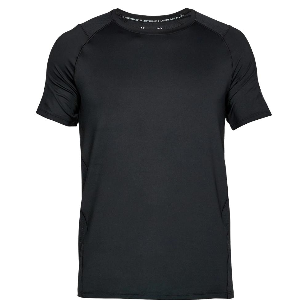 1596f99cfa Under Armour Men`s MK1 Short Sleeve Top Black | Tennis Express