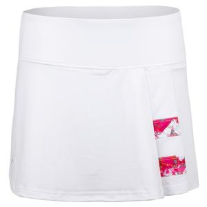 Women`s Flash Point 13 Inch Tennis Skort White