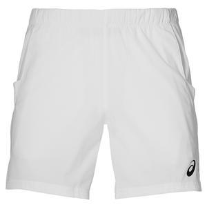 Men`s Elite 7 Inch Tennis Short Brilliant White