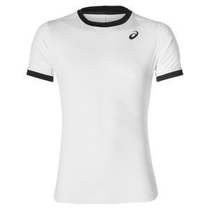 Men`s Club Short Sleeve Tennis Top Brilliant White