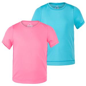 Girls` Dynamic High-Low Short Sleeve Tennis Top