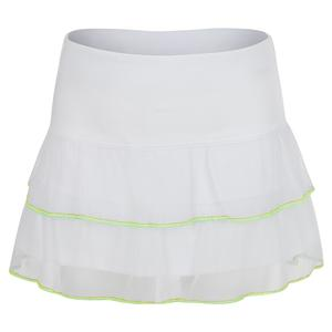 Girls` Flippy Mesh Tennis Skort White