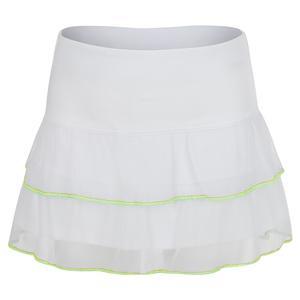 Girls` Flippy Mesh Tennis Skort White